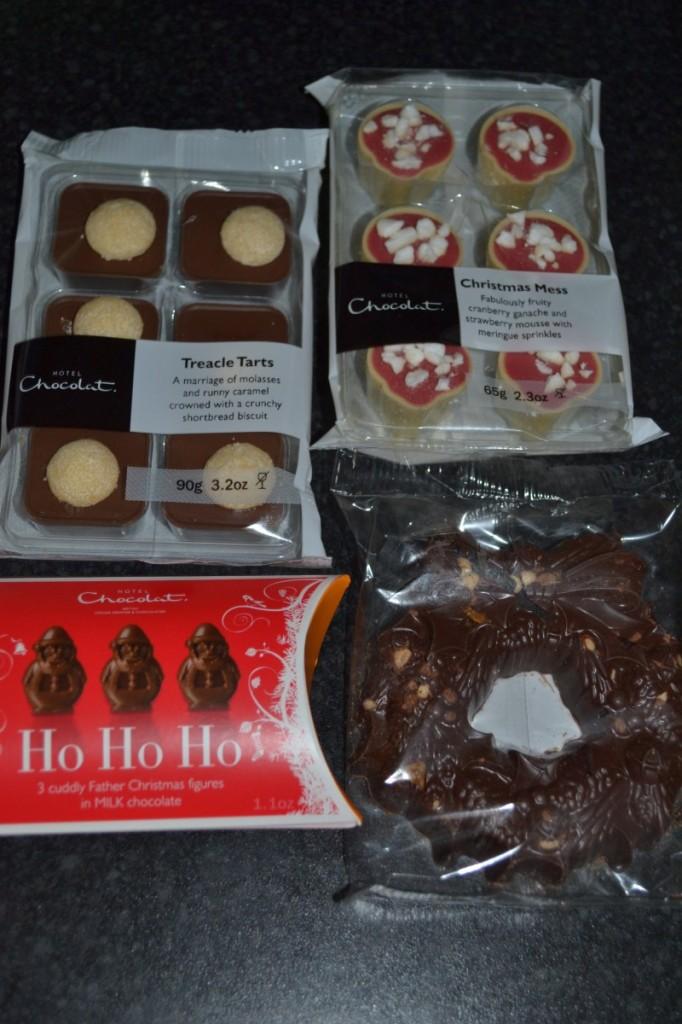 Hotel Chocolat Goody bag items