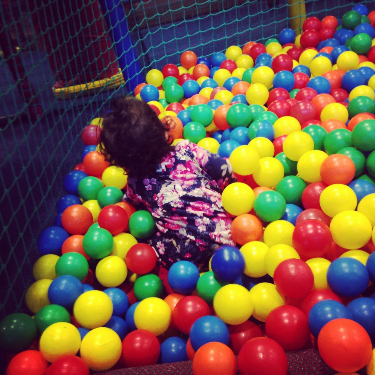 Ball pit at Soft Play
