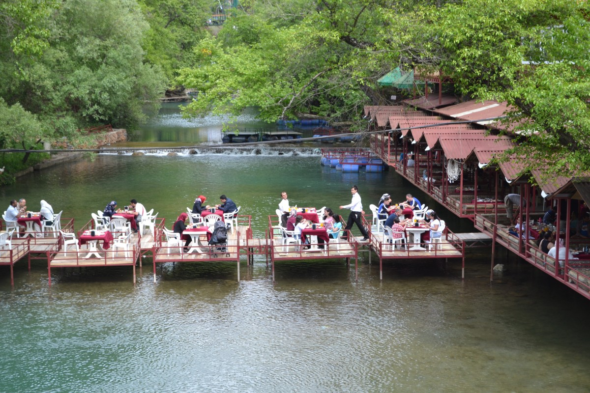 Lunch on the river, Alanya
