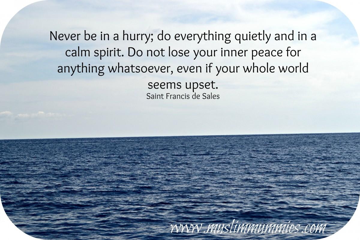 Calm sea quote