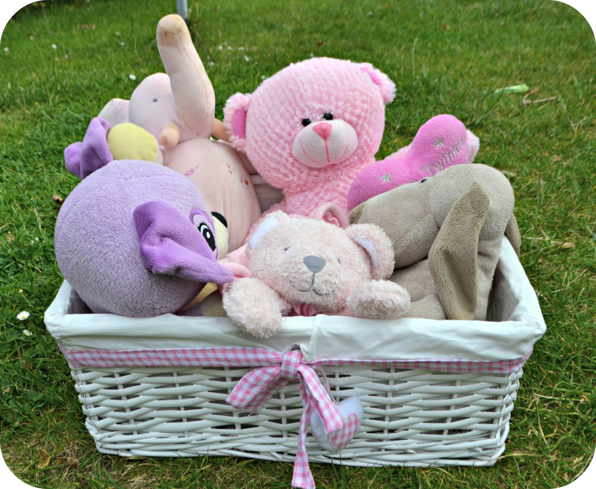 I love these cute baskets I found to store Bee's toys in