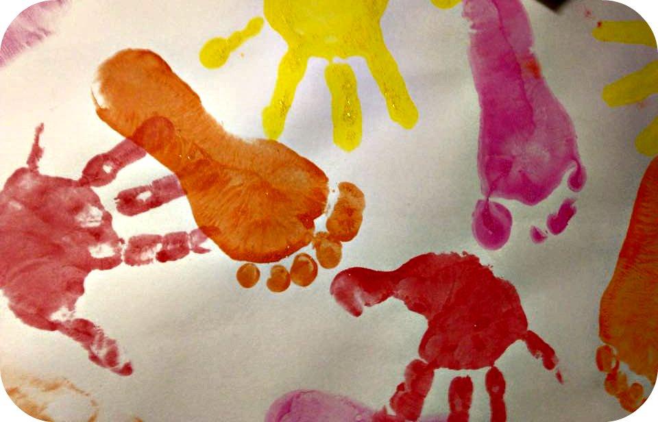 Foot and handprints