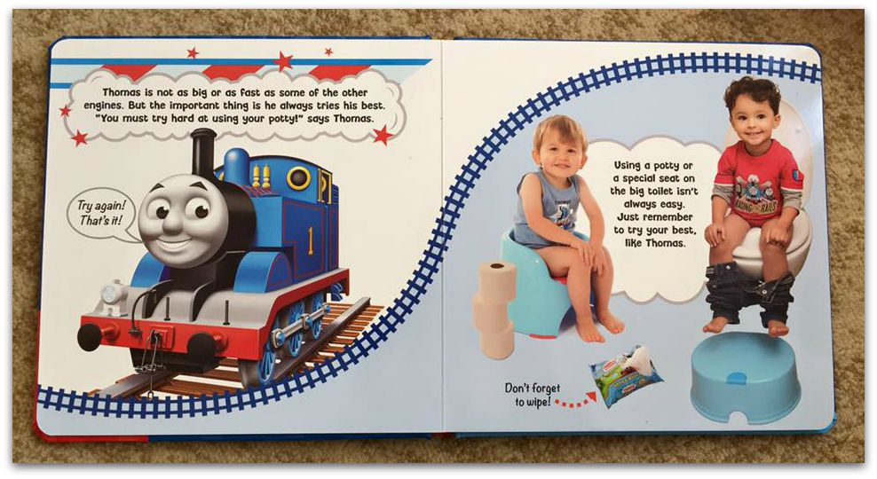Thomas and Friends potty training book