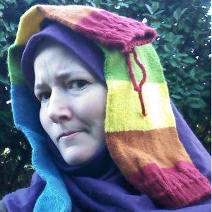 Elizabeth Lymer rainbow missing socks on head SQUARE