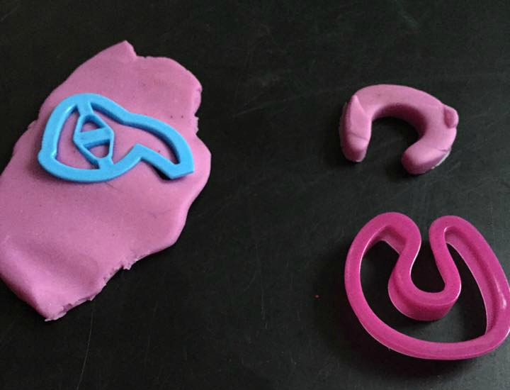 Arabic letters with fun dough