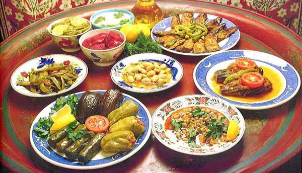 Turkish iftar table
