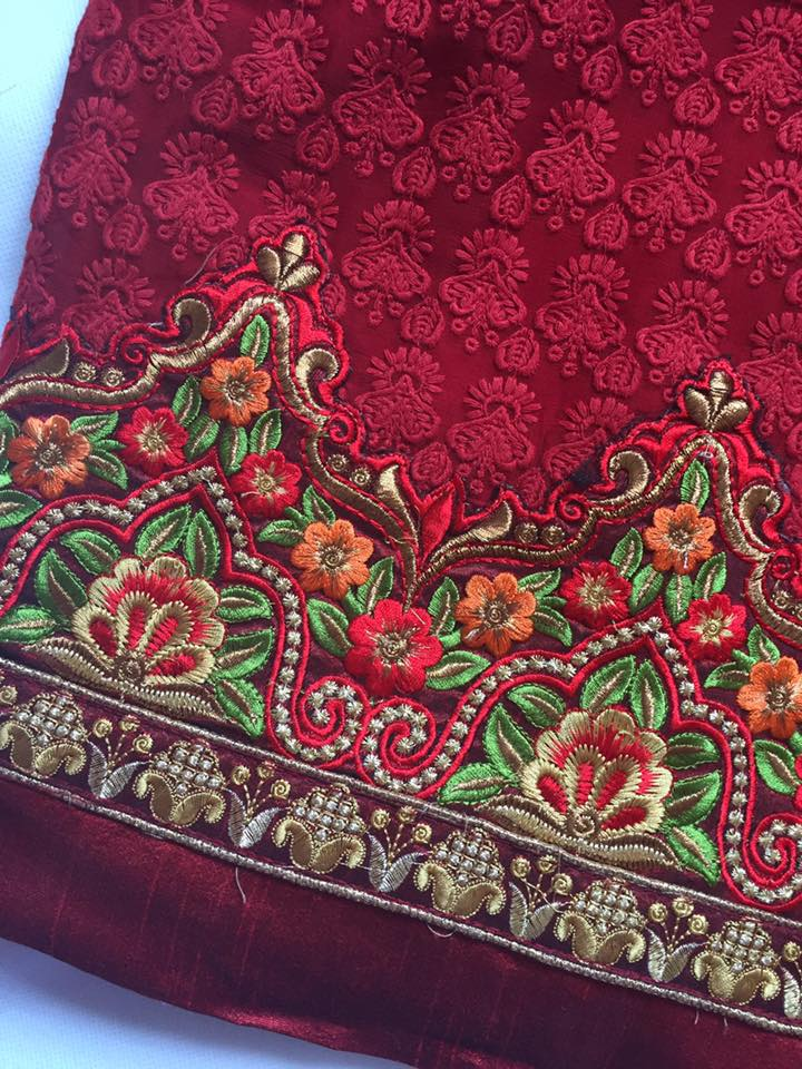 Embroidery on border
