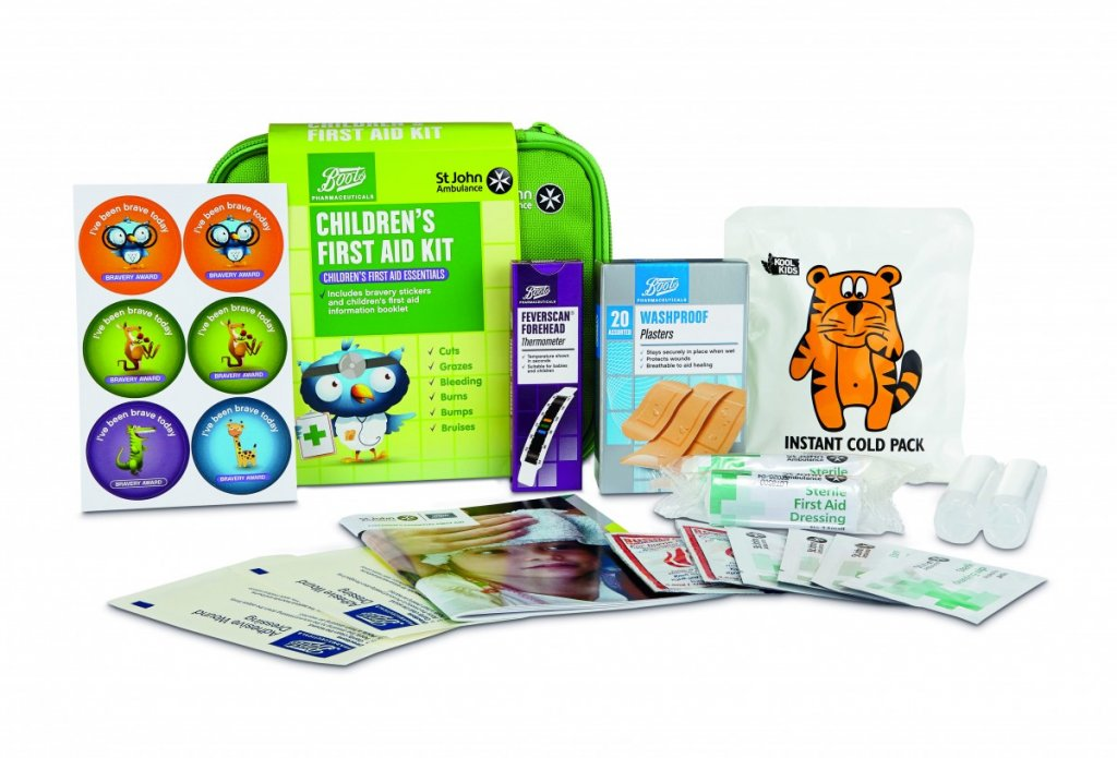 Childrens first aid kit contents