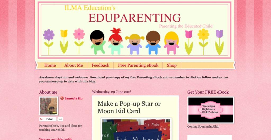 pop up star or moon eid card