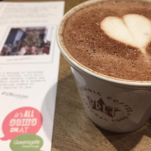 Hot chocolate from Pret