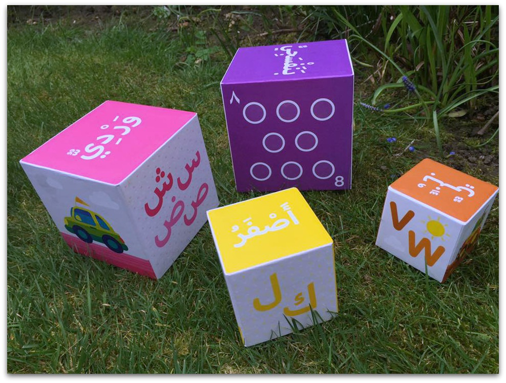 Educatfal cube faces