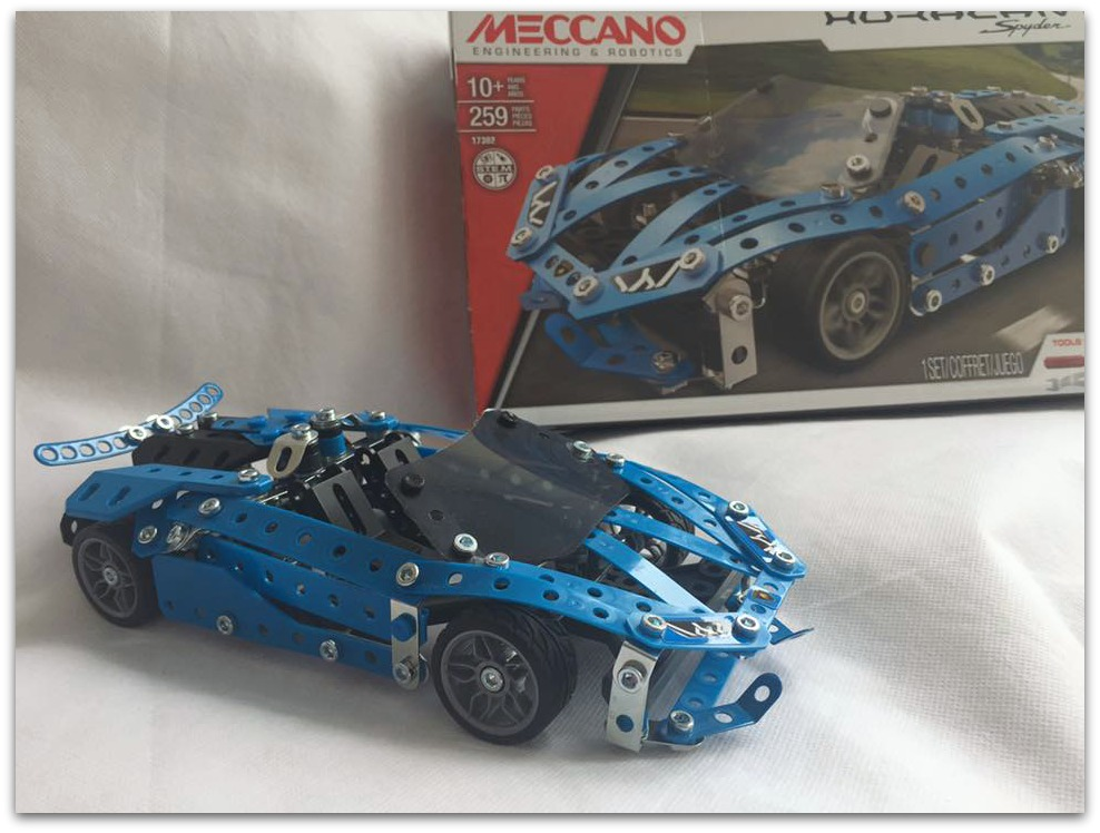 Meccano completed Spyder