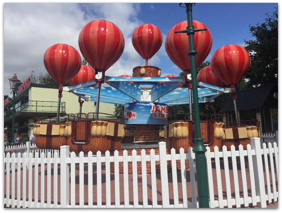 James and the Red balloon Drayton Manor