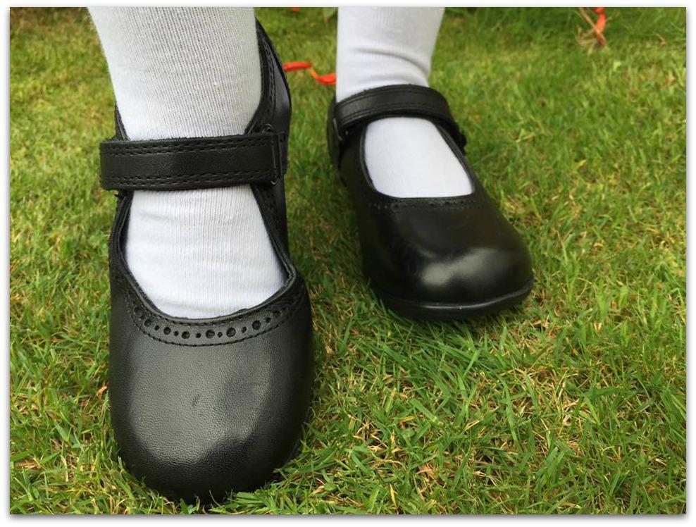 Wearing Debenhams School Shoes