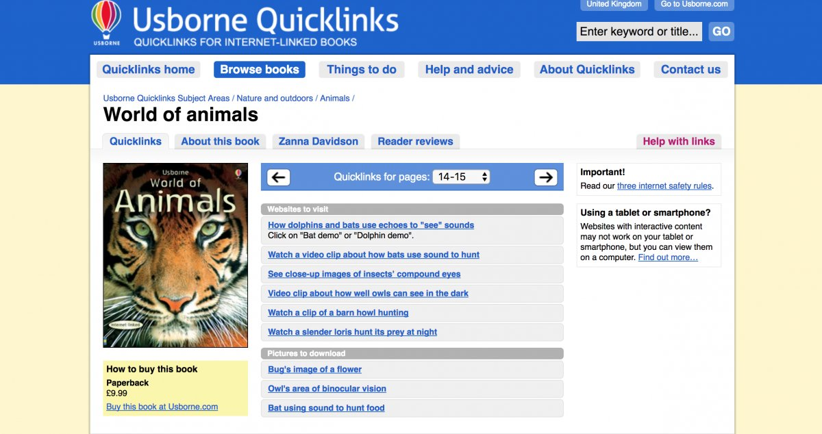 Screen Shot of Usborne Quick Links