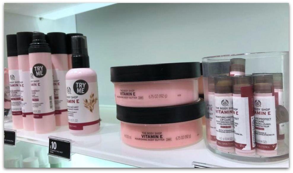 Vitamin E Body Shop Range