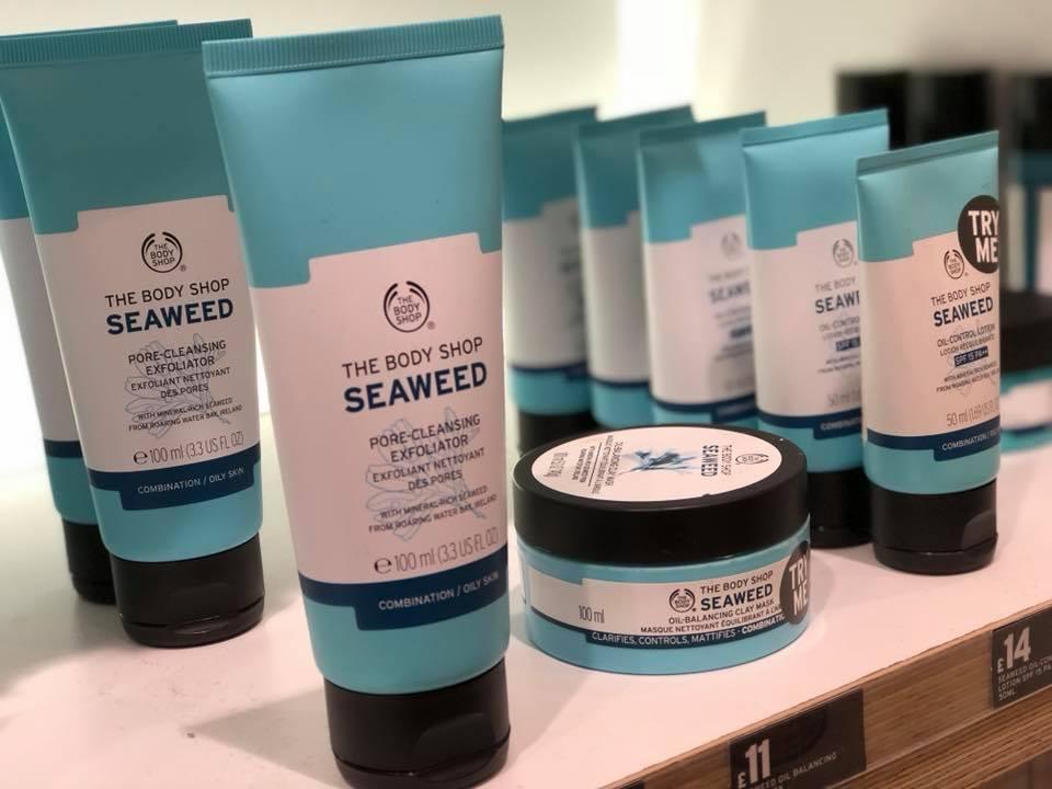 Body shop seaweed range