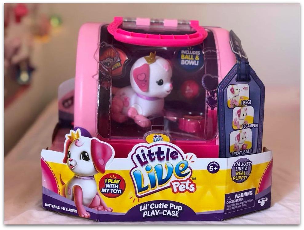 Little Live Pets Lil Cutie pup playcase