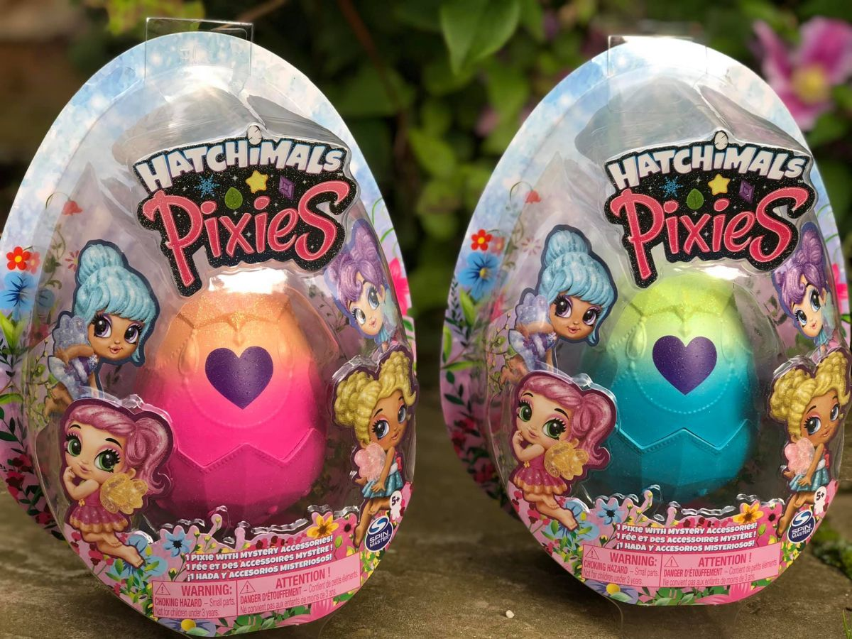 two Hatchimals Pixies in their packaging