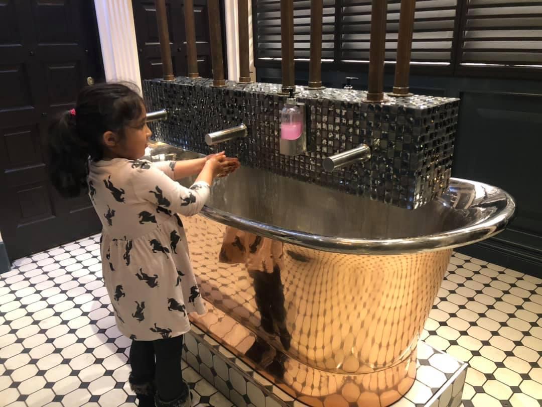 Washing hands at Tipu Sultan