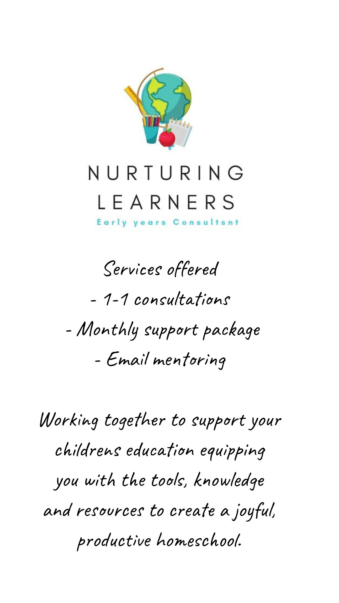 Nurturing Learners list of services